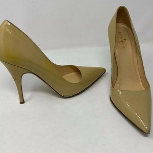 Kate Spade Sz 9.5B Nude Patent Leather High Heels